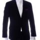 aziari italian clothing mens suits miami fl black solid blazer front