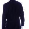 aziari italian clothing mens suits miami fl navy solid blazer back