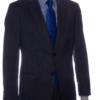 mens suit charcoal grey front