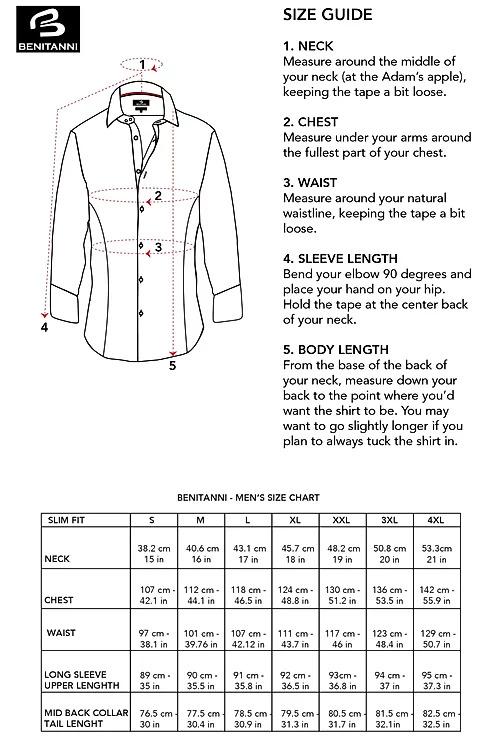 benitanni shirt size guide