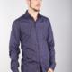 7 Downie St 2168 - Purple Scale Print Shirt
