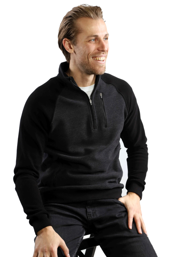 7 Downie St Polaris 1/4 Zip Sweater - Black