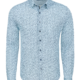 Stone Rose Light Blue Floral Knit Long Sleeve Shirt