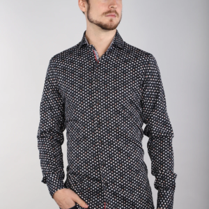 7 Downie St 2193 - Black Hearts Print Shirt
