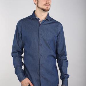 7 Downie St J4 - Micro Dots Denim Shirt