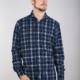 7 Downie St 2037 - Blue Flocked Shirt