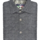 Stone Rose Charcoal Quilted Herringbone Long Sleeve Shirt