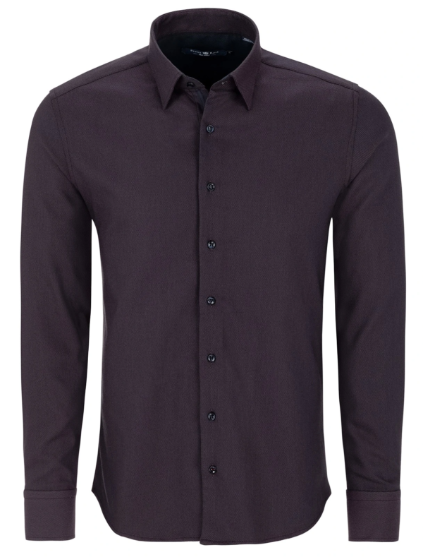 Stone Rose Berry Dry Touch Jacquard Long Sleeve Shirt
