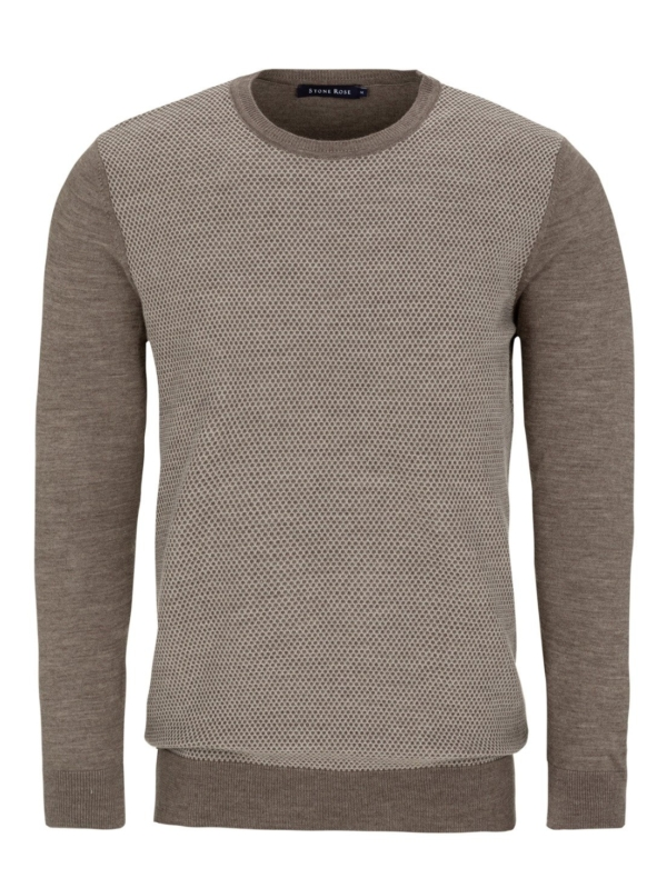 Stone Rose Brown Honeycomb Sweater
