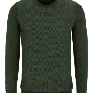 Stone Rose Olive Honeycomb Sweater