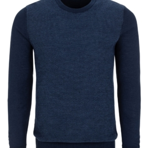 Stone Rose Navy Honeycomb Sweater