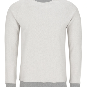 Stone Rose Light Gray Herringbone Sweater