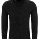 Stone Rose Black Performance Knit Long Sleeve Shirt