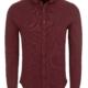 Stone Rose Burgundy Performance Knit Long Sleeve Shirt