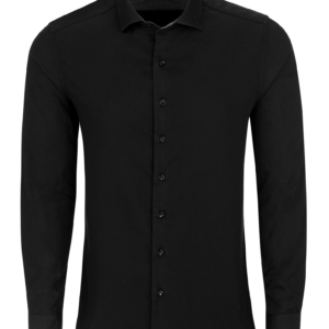 Stone Rose Black Dry Touch Sateen Long Sleeve Shirt