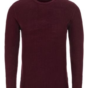 Stone Rose Burgundy Waffle Sweater