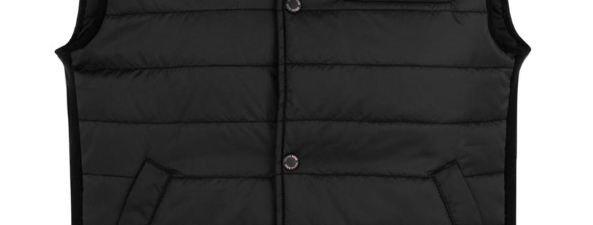 Stone Rose Black Puffer Vest