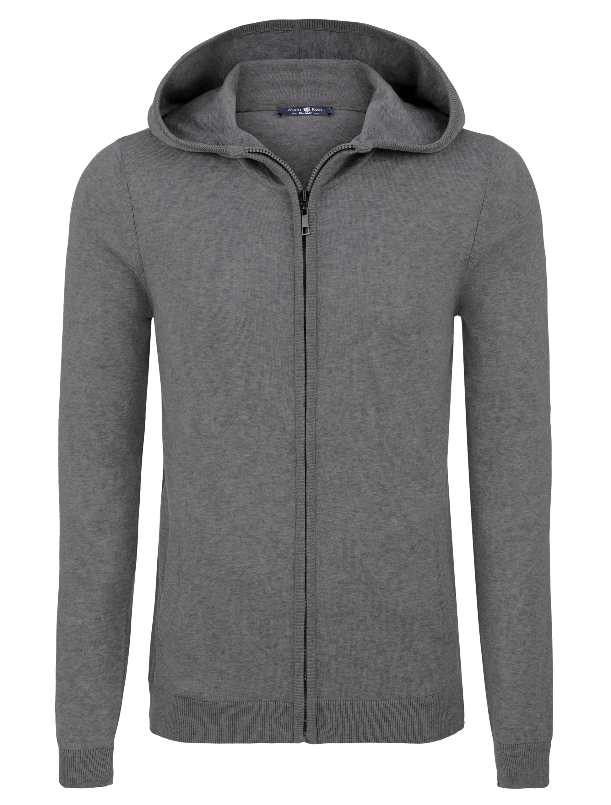 Stone Rose Light Grey Natural Heather Hoodie
