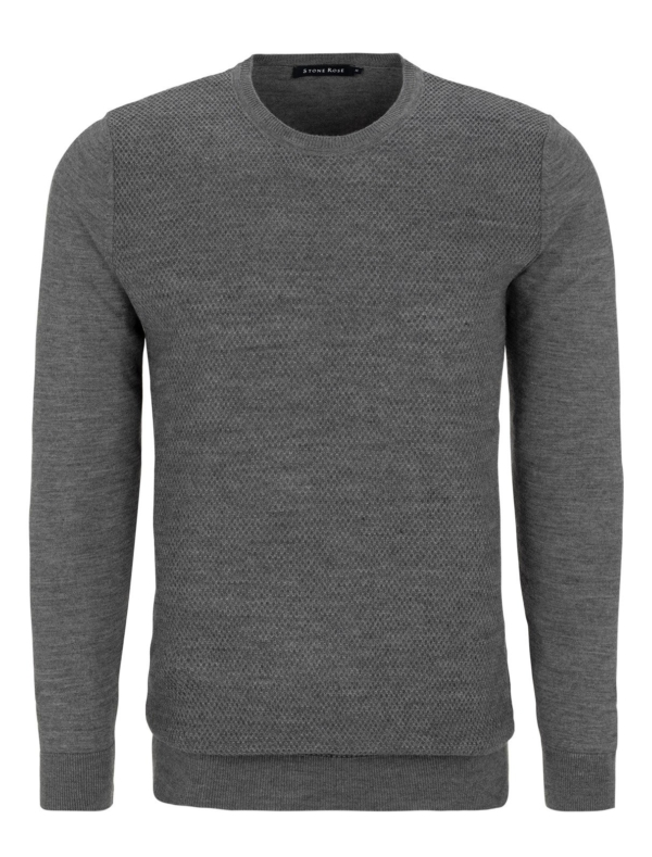 Stone Rose Charcoal Honeycomb Sweater