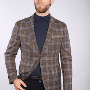 7 Downie St Bentley - Brown Check Jacket