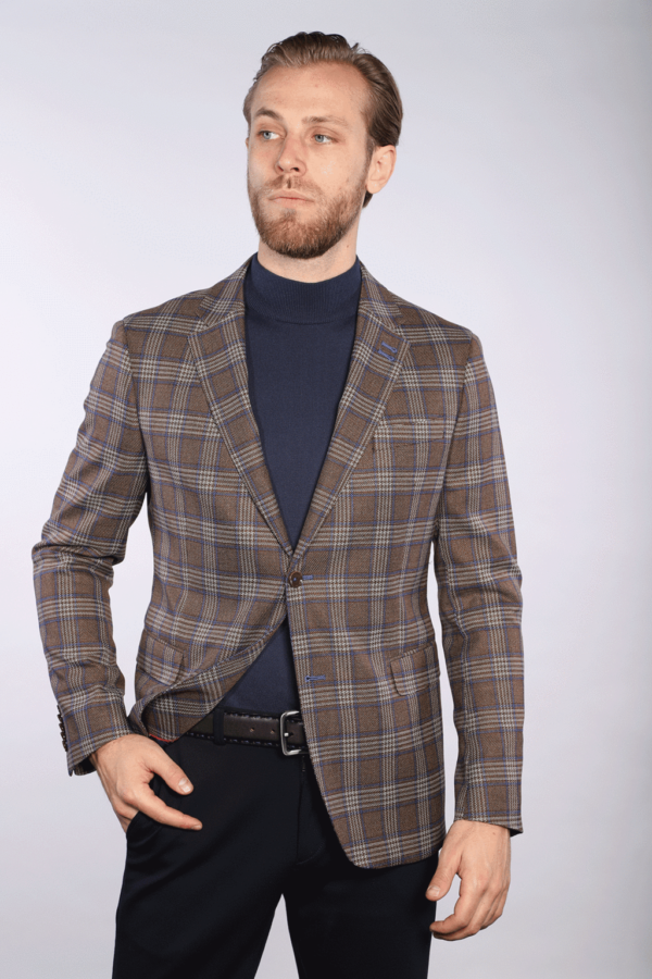 7 Downie St Bentley - Brown Check Jacket