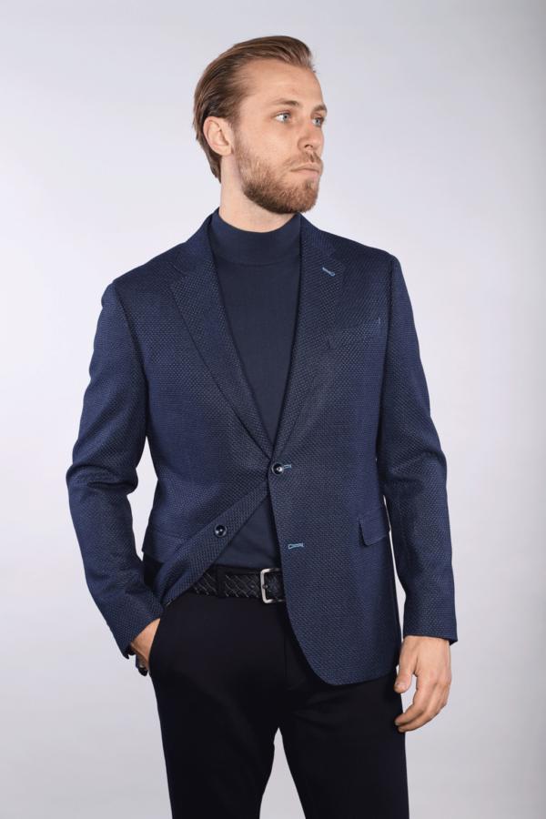 7 Downie St Manuel - Tonal Blue Sport Jacket
